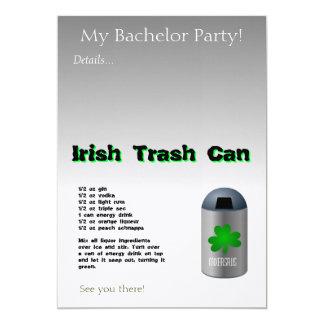 アイルランドのゴミ箱の飲み物のレシピ カード