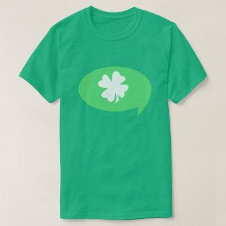 アイルランドのシャムロックのスピーチの泡 Tシャツ