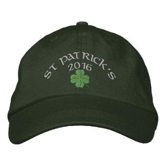 アイルランドのシャムロックのセントパトリックの日 刺繍入りキャップ