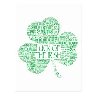 アイルランドのシャムロックの運 ポストカード