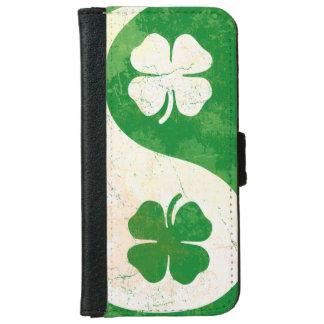 アイルランドのシャムロックの陰陽 iPhone 6/6S ウォレットケース