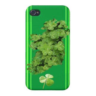 アイルランドのシャムロックはケネスYoncichによって縞で飾ります iPhone 4 カバー