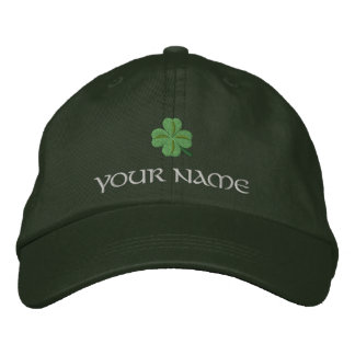 アイルランドのシャムロックカバーセントパトリック 刺繍入りキャップ