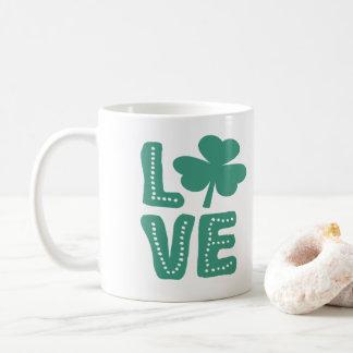 アイルランドのシャムロック愛St patricks day コーヒーマグカップ
