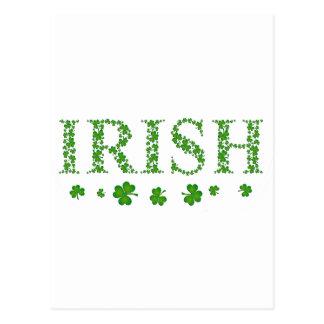 アイルランドのシャムロック ポストカード
