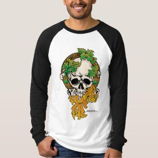 アイルランドのスカルの入れ墨 Tシャツ