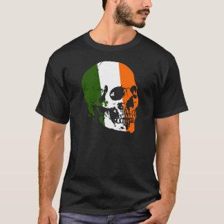 アイルランドのスカルの旗 Tシャツ