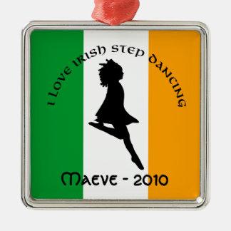アイルランドのステップ踊りのオーナメント メタルオーナメント