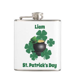 アイルランドのセントパトリックの日の運 フラスク