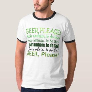 アイルランドのティーのSt. Patricks日の緑の順序ビール Tシャツ