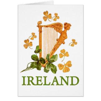 アイルランドのハープ カード