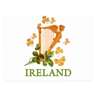 アイルランドのハープ ポストカード