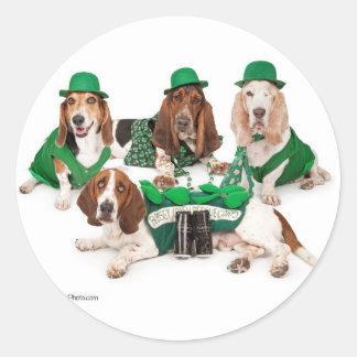 アイルランドのバセットハウンドの四つ組 ラウンドシール