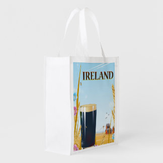アイルランドのパイントの景色旅行ポスター エコバッグ