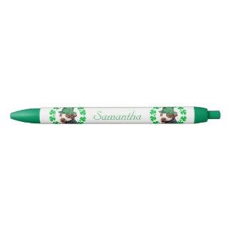 アイルランドのピットブル犬の名前入りなペン 黒ボールペン