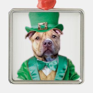 アイルランドのピットブル犬 メタルオーナメント