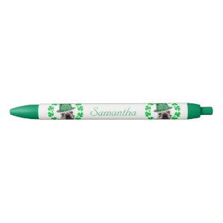 アイルランドのフレンチ・ブルドッグ犬の名前入りなペン 黒ボールペン