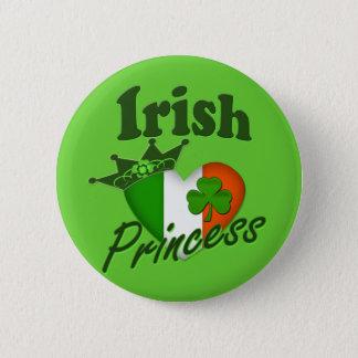 アイルランドのプリンセスの伝統のハート 5.7CM 丸型バッジ