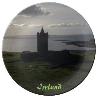 アイルランドのプレートのアイルランドの城 磁器プレート