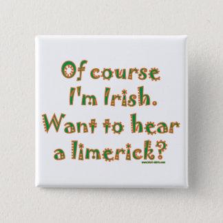 アイルランドのリムリック 5.1CM 正方形バッジ