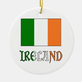 アイルランドの一流の旗 セラミックオーナメント