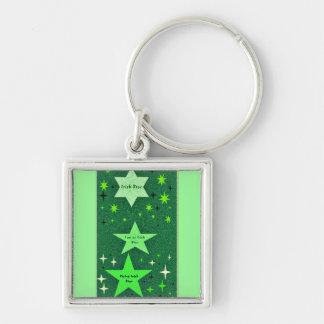 アイルランドの上昇の星の緑のkeychainがあること誇りを持った キーホルダー
