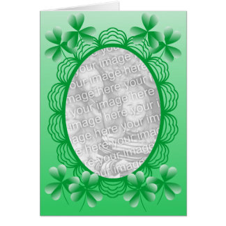 アイルランドの写真フレームのテンプレート カード