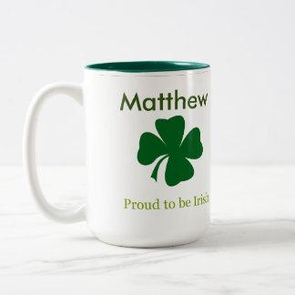 アイルランドの名前入りなコーヒー・マグがあること誇りを持った ツートーンマグカップ
