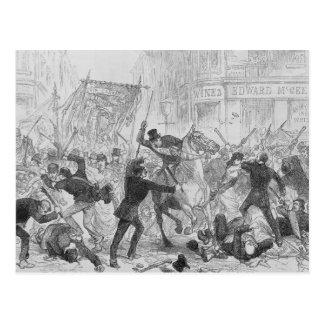 アイルランドの国内規制はグラスゴー、c.1880sで騒ぎます ポストカード