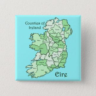 アイルランドの地図の郡 缶バッジ