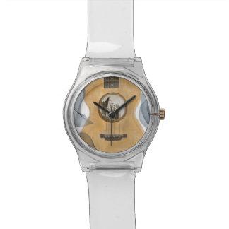 アイルランドの城のアコースティックギターの腕時計 腕時計
