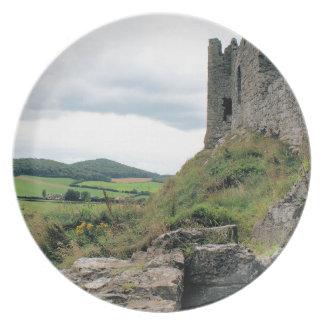 アイルランドの城のプレート プレート