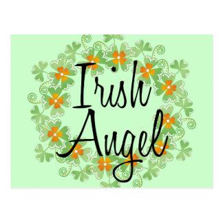 アイルランドの天使のシャムロックのリース ポストカード