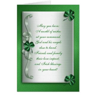 アイルランドの天恵のメッセージカードのブランク カード