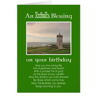 アイルランドの天恵-誕生日のカスタムな写真カード カード