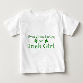 アイルランドの女の子 ベビーTシャツ