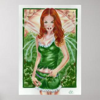 アイルランドの妖精のシャムロックポスタープリント ポスター