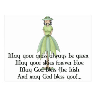 アイルランドの妖精の女の子1 -アイルランド人の引用文 ポストカード