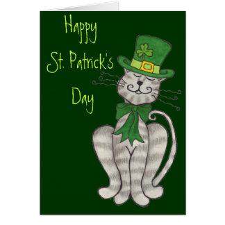 アイルランドの子猫-幸せなセントパトリックの日カード カード
