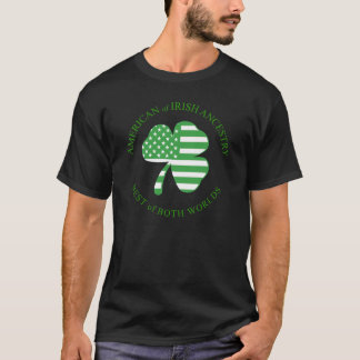アイルランドの家系の暗闇のワイシャツのアメリカ人 Tシャツ