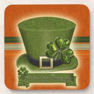 アイルランドの小妖精の帽子のコルクのコースター コースター