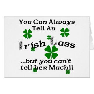 アイルランドの少女-常に言うことができます。 カード