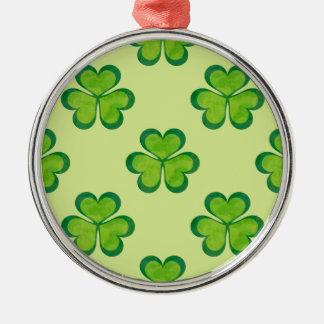 アイルランドの幸運なシャムロックのクローバーの継ぎ目が無いパターン メタルオーナメント