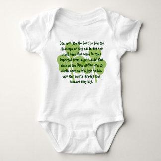 アイルランドの恵みのTシャツ ベビーボディスーツ
