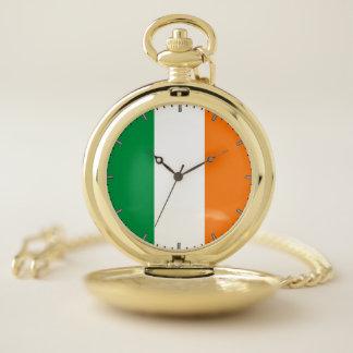 アイルランドの愛国心が強い壊中時計の旗 ポケットウォッチ