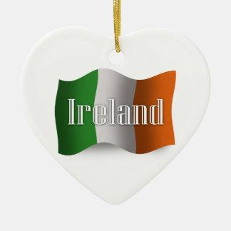 アイルランドの振る旗 セラミックオーナメント