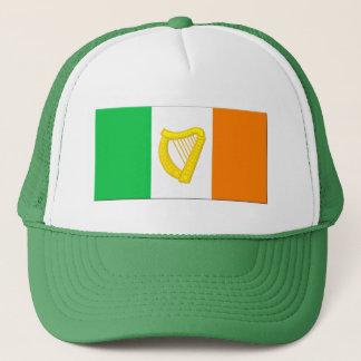 アイルランドの旗およびアイルランドのハープ キャップ