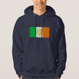 アイルランドの旗およびアイルランドのハープ パーカ