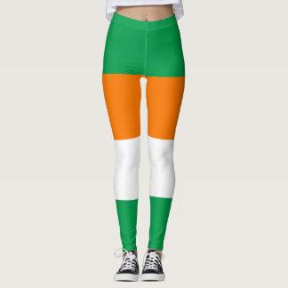 アイルランドの旗のアイルランドの緑の白いオレンジレギンス レギンス