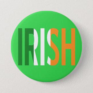アイルランドの旗のアイルランド語 缶バッジ